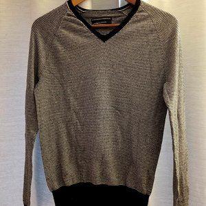 Club Monaco Black & White Striped Sweater